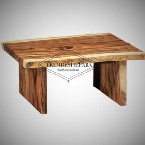 meja besar kayu trembesi